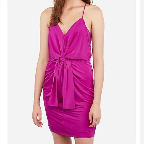 Express Dresses & Skirts - NWT Express Satin Twist Front Mini Dress M